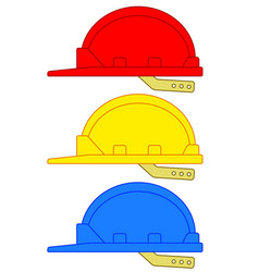 Safety hard hats vector
