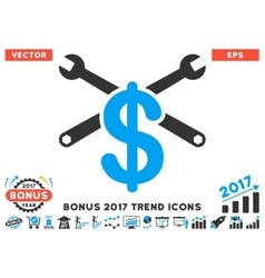 Service Price Flat Icon With 2017 Bonus Trend vector
