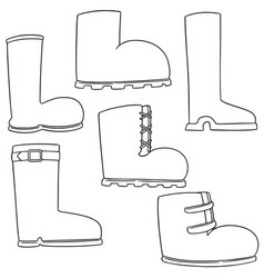 set of boot vector image