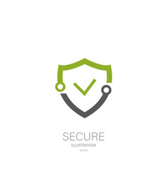 shield securuty logo icon stylish design vector image