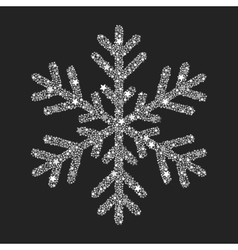 Silver snowflake from Christmas decoration vector