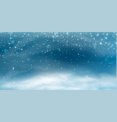 snow landscape banner vector image