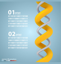 Spiral infographic elements with numbers vector