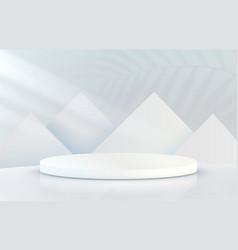 stage podium with lighting podium scene vector image