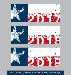 Texan flag independence day timeline cover vector