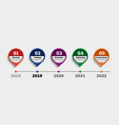 timeline infographics workflow and process chart vector image
