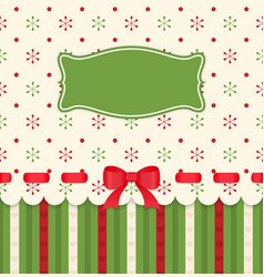 Vintage card with bow on polka dots background vector