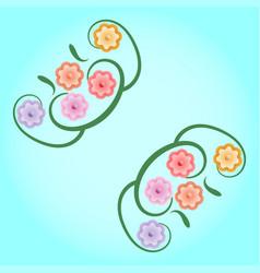 Vintage flower background vector