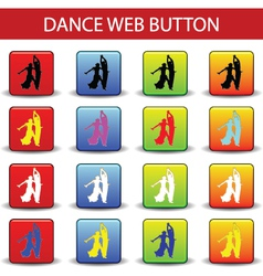 web button dance vector image