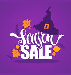 31 october halloween sale banner with witch hat vector image vector image