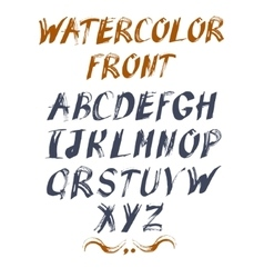 alphabet for your design Hand drawn vector image