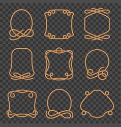 rope border set vector image
