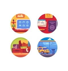 Travel concept icon set vector image vector image