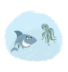 two evil enemies vector image