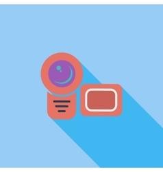 Video camera single flat icon vector image