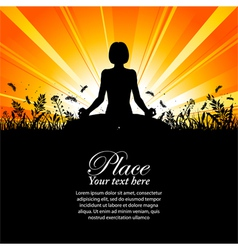 yoga pose outdoors vector image vector image