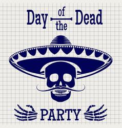 day of dead sketch poster design vector image