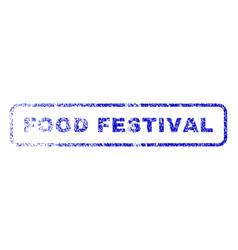 food festival rubber stamp vector image