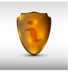 information orange logo vector image vector image