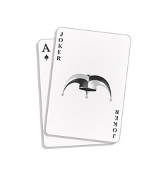 Joker and spades ace vector