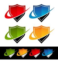 Swoosh Shield Logo Icons vector image vector image