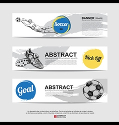Abstract soccer football banner vector image vector image