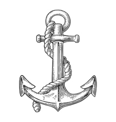 Anchor isolated on white background vector image