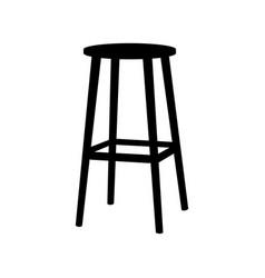 chair symbol on white backgroundbar stool icon vector image