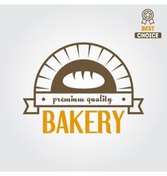 Logo label emblem or badge for bakery or baker vector image