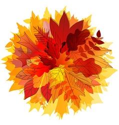 Color leaves Hello autumn concept vector image
