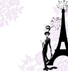 Frame fashion beauty Paris vector image