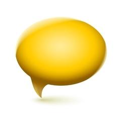 Glossy speech bubble vector image