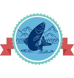 salmon fishing vector image vector image
