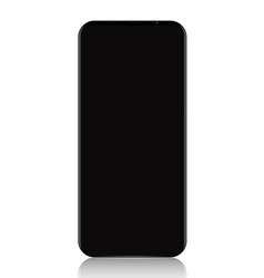 smart phone black realistic on white background vector image vector image