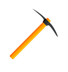 wooden pickaxe with iron tip vector image vector image