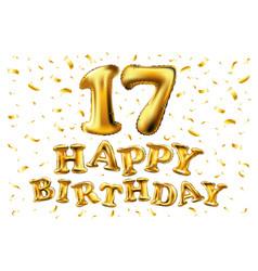 17 years anniversary happy birthday joy vector image