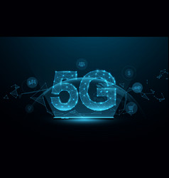 5g networks high-speed mobile internet vector image