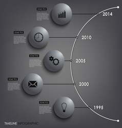Abstract info graphic time line round element vector image