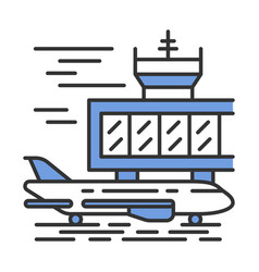 Airport outside color icon vector