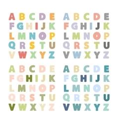 alphabet setalphabet collection vector image
