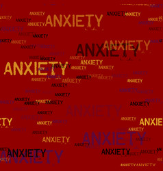 Anxiety typography pattern vector