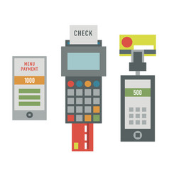 Atm payment card terminal vector
