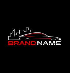 Auto city logo template vector