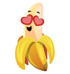 banana in love on white background vector image