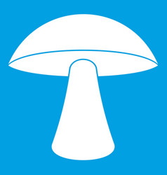Birch mushroom icon white vector