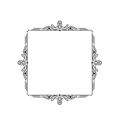 black vintage elegant frame with monograms vector image