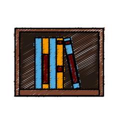 books on shelf vector image