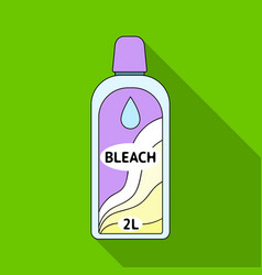 Bottle of bleach dry cleaning single icon in flat vector