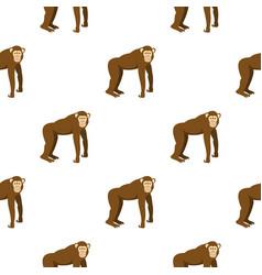 Brown monkey pattern seamless vector