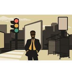 Business in the city vector